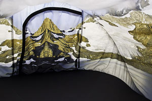 guillermo gudino contemporary art landscape photography pop-up tent design escape patagonia anywhere