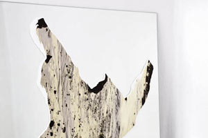 guillermo gudino art islas contemporary landscape abstract photography cut-out mirror hand-torn shapes forms selection